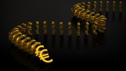 USA --- Euro currency domino effect --- Image by © 2/Bjorn Holland/Ocean/Corbis