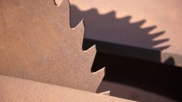 A circular saw blade, close-up --- Image by © Tobias Titz/fstop/Corbis