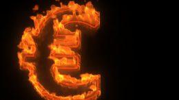Burning euro symbol, sign, euro crisis --- Image by © Martin Dr. Baumgärtner/imageBROKER/Corbis