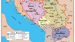 ca. 1997 --- Map of the Balkan Region --- Image by © MAPS.com/CORBIS