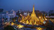 15 Jan 2013, Yangon, Burma --- Sule Paya, Yangon (Rangoon), Myanmar (Burma), Asia --- Image by © Tuul/robertharding/Corbis