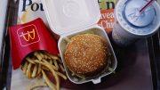 03 Dec 1992, Paris, France --- Big Mac sandwich, a serving of french fries and a Coke. --- Image by © Bernard Annebicque/Sygma/Corbis